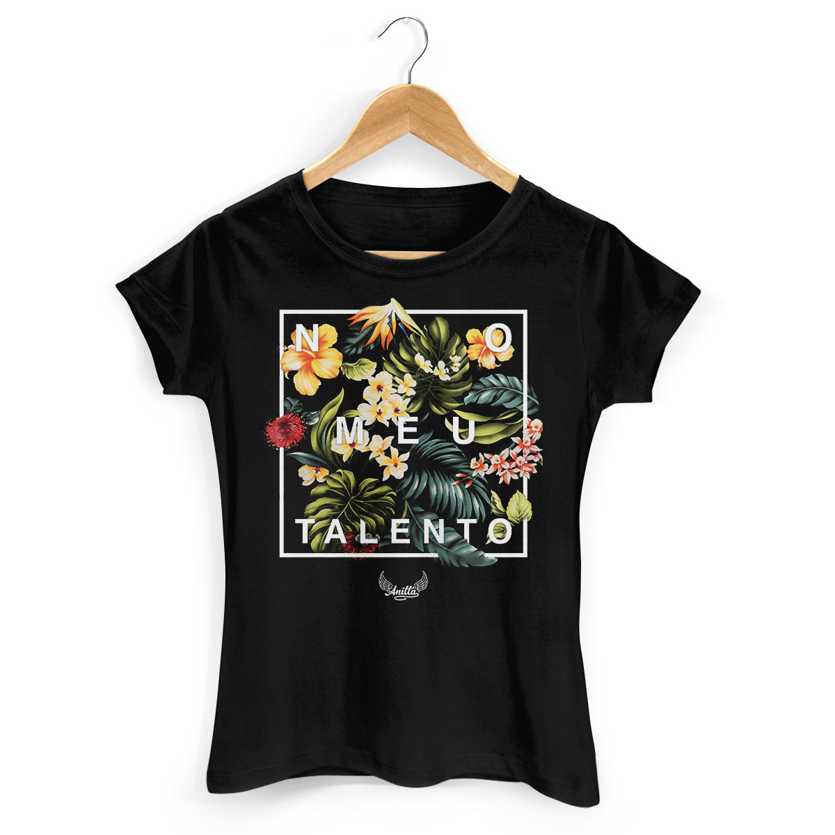 Camiseta Feminina Anitta Meu Talento Flowers