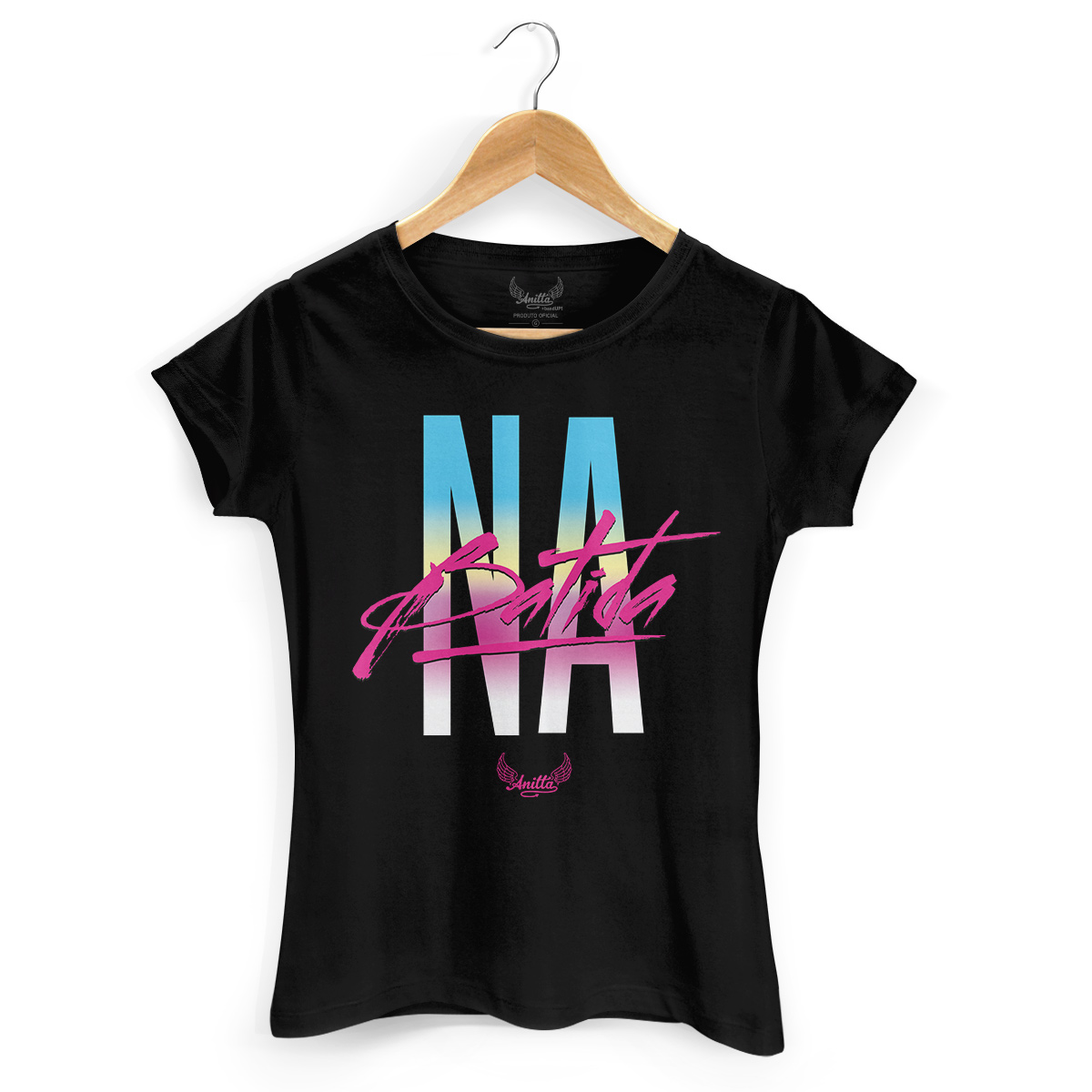 Camiseta Feminina Anitta Na Batida Type