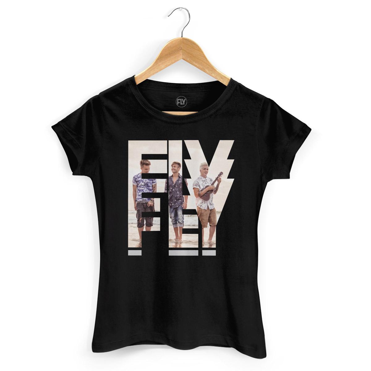 Camiseta Feminina Banda Fly Logo Foto