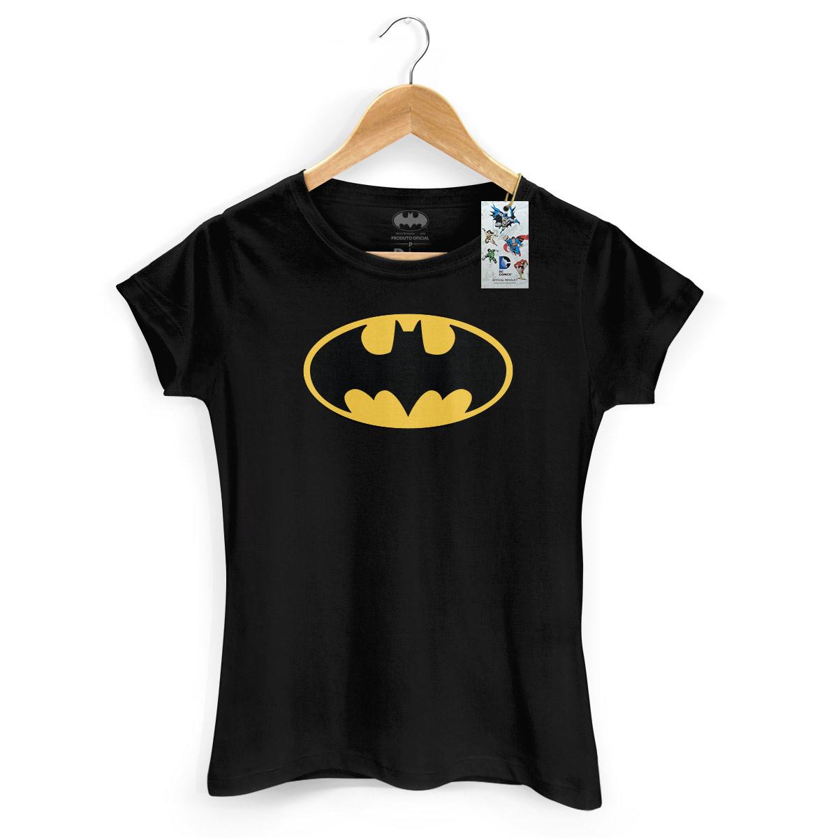 Camiseta Feminina Batman Logo Cl�ssico
