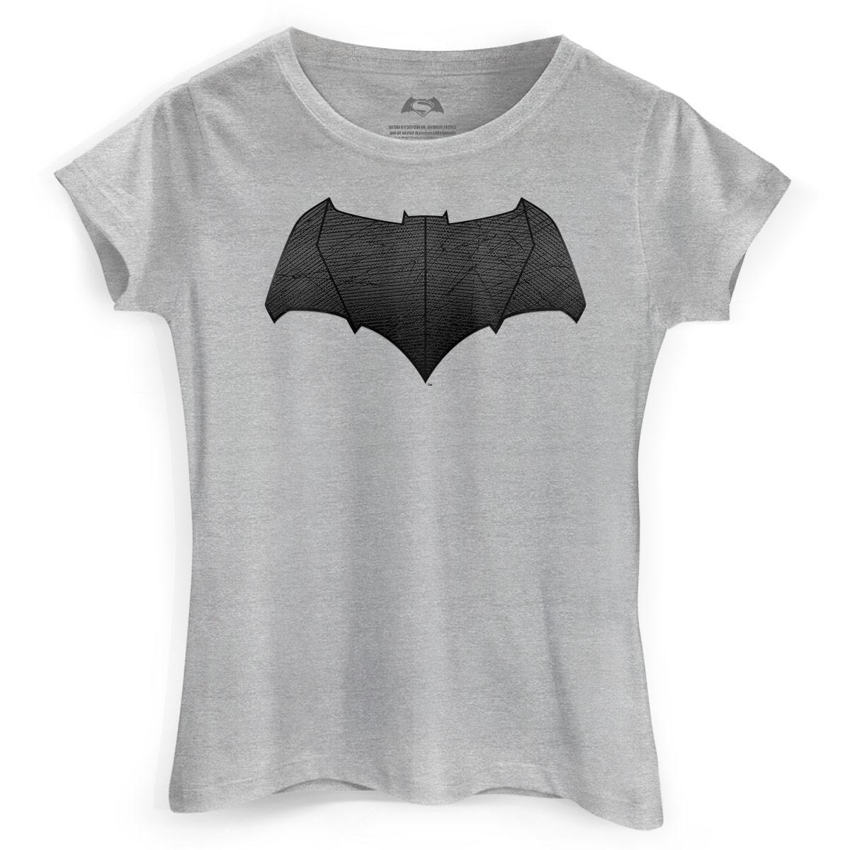 Camiseta Feminina Batman Vs Superman Logo Batman