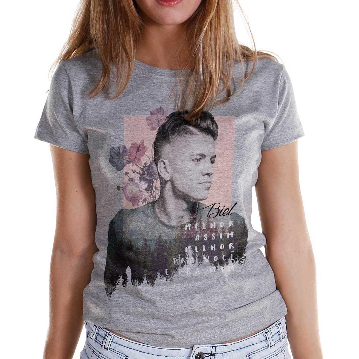 Camiseta Feminina Biel Melhor Assim