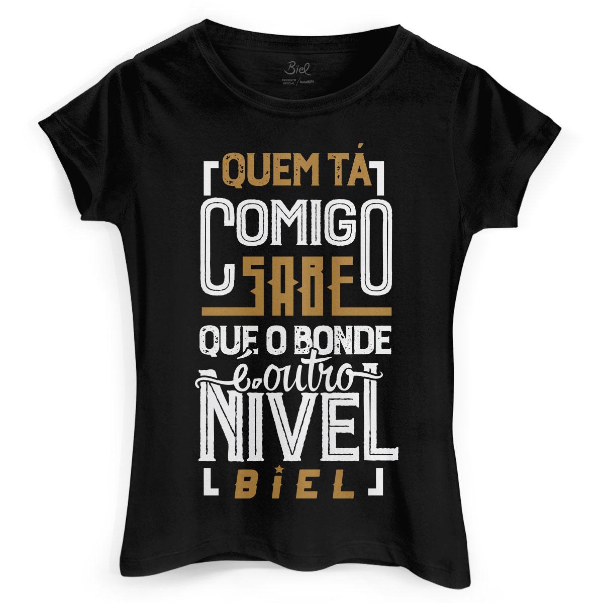 Camiseta Feminina Biel Tô Tirando Onda