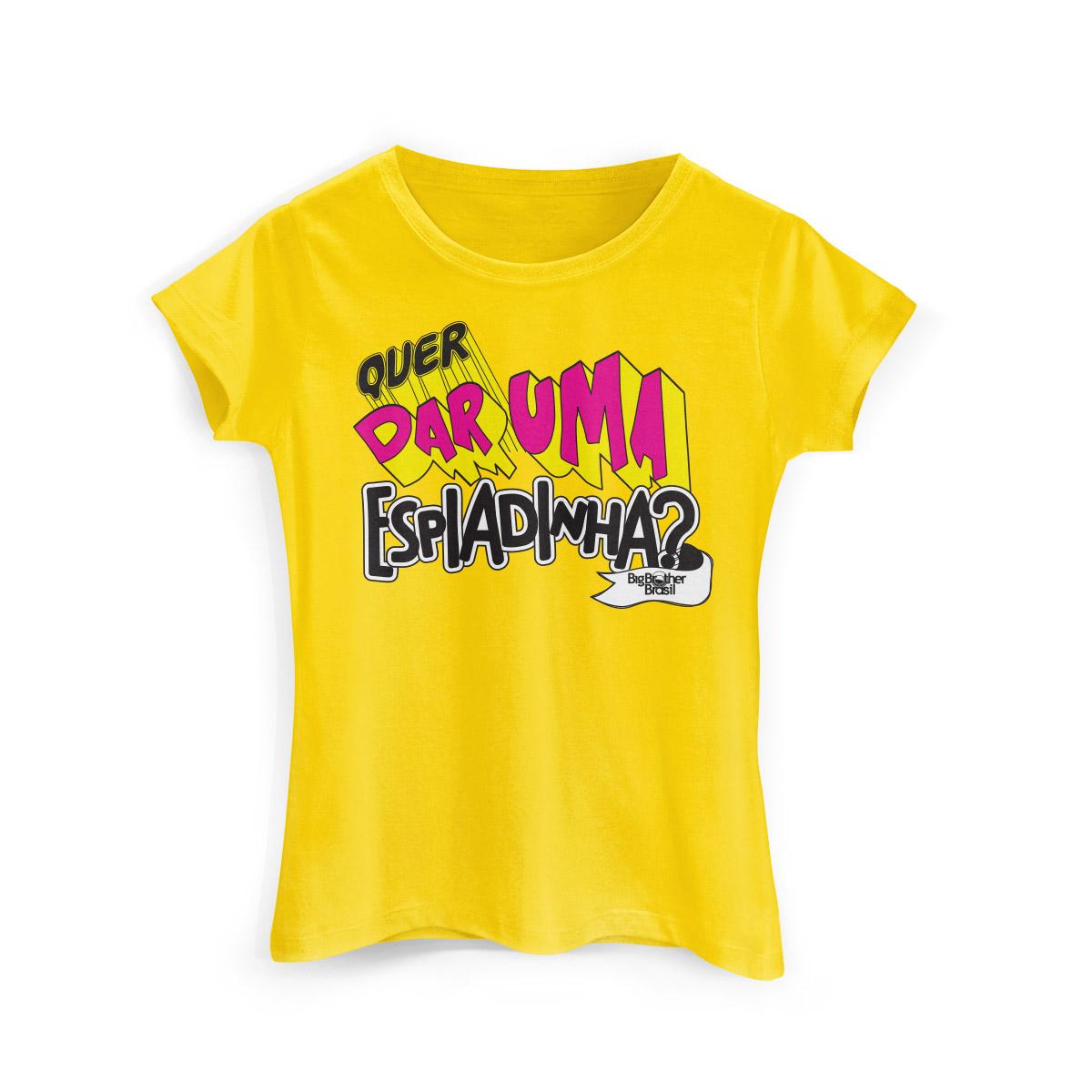 Camiseta Feminina Big Brother Brasil 15 Espiadinha