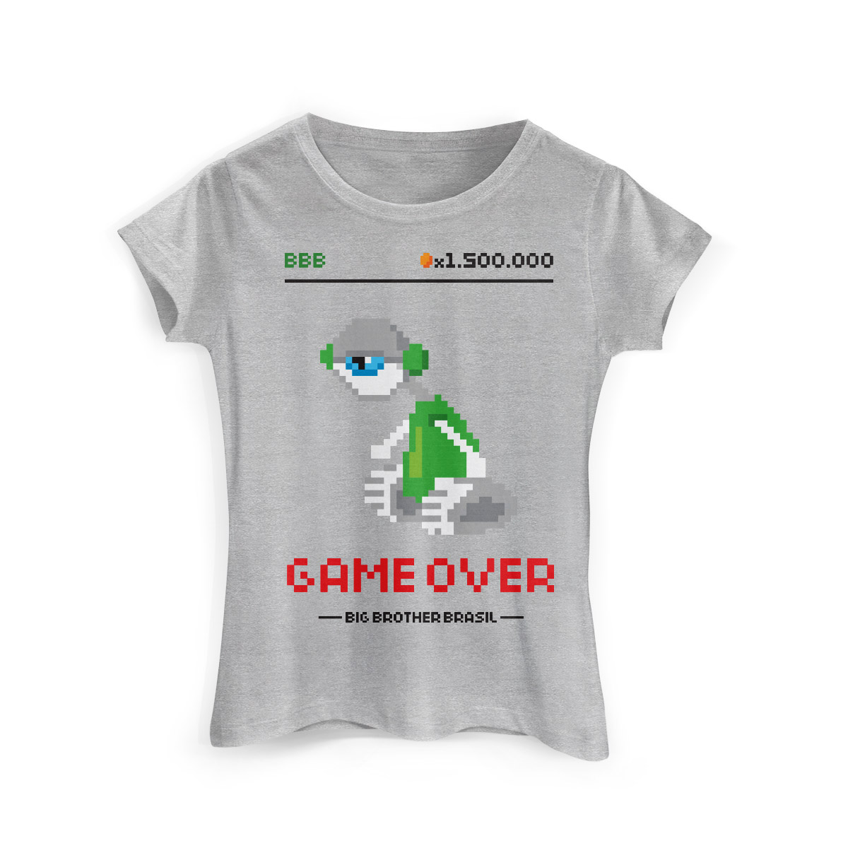 Camiseta Feminina Big Brother Brasil 15 Game Over Modelo 2