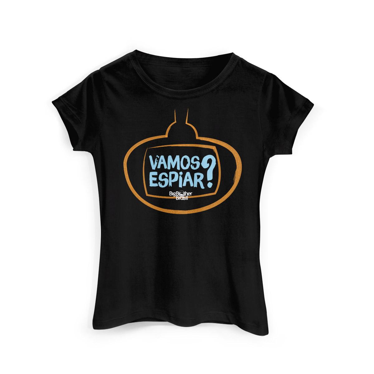 Camiseta Feminina Big Brother Brasil 15 Vamos Espiar?