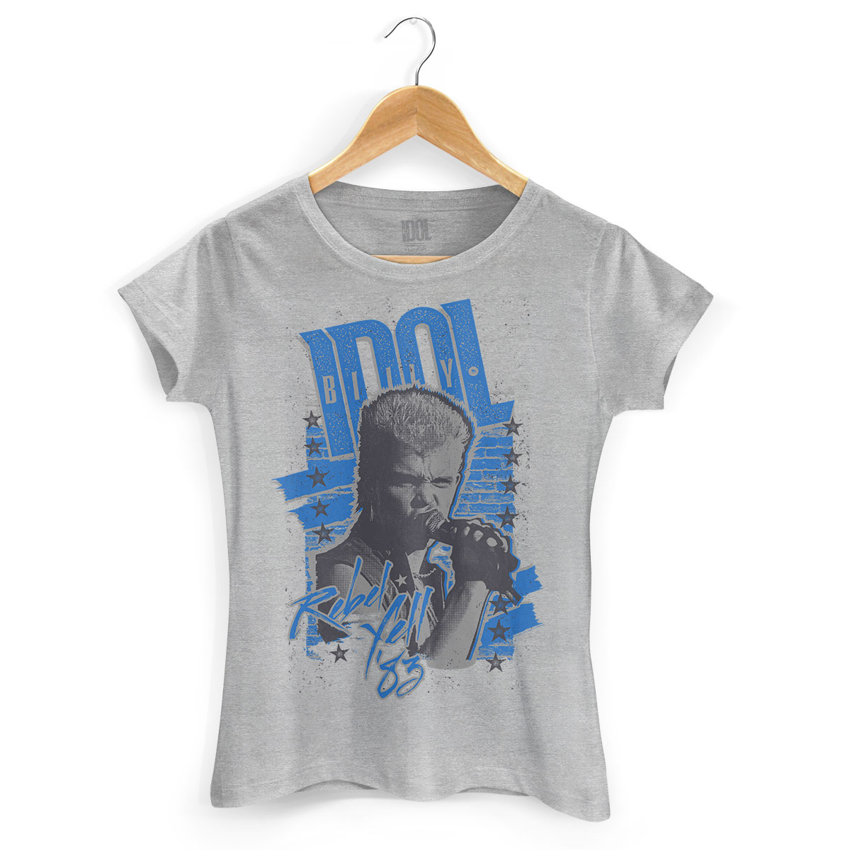 Camiseta Feminina Billy Idol Rebel Yell Face