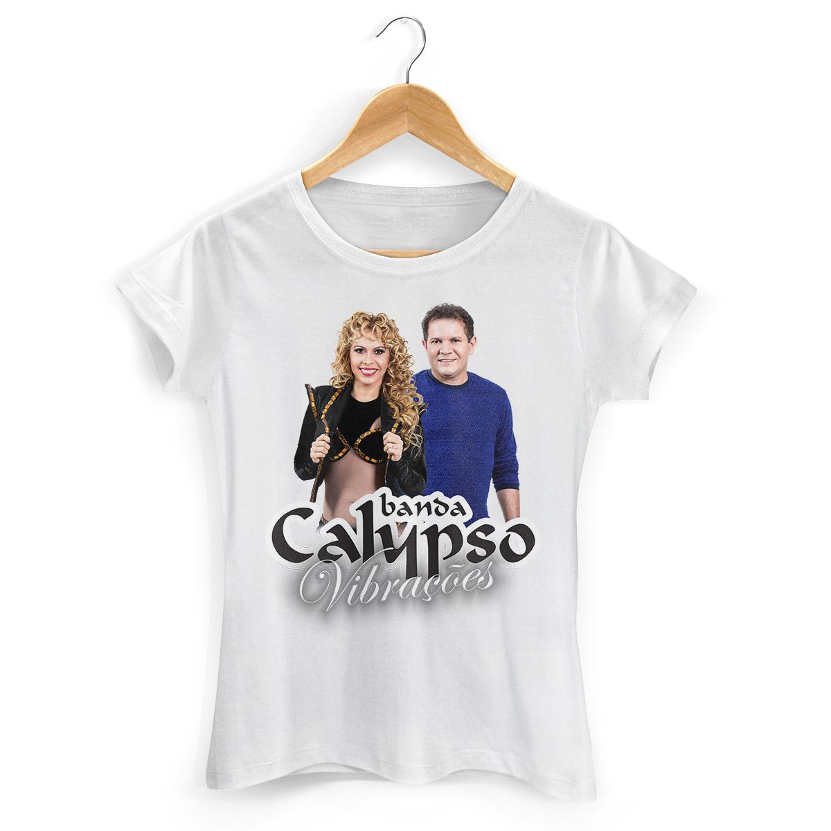 Camiseta Feminina Calypso Vibrações Capa
