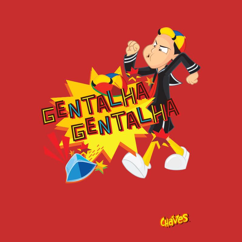 Camiseta Feminina Chaves Gentalha, Gentalha