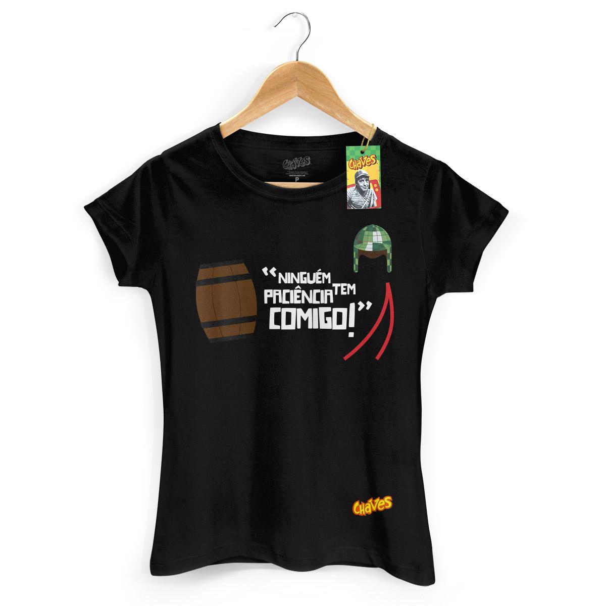 Camiseta Feminina Chaves Ninguém Tem Paciência Comigo! 3