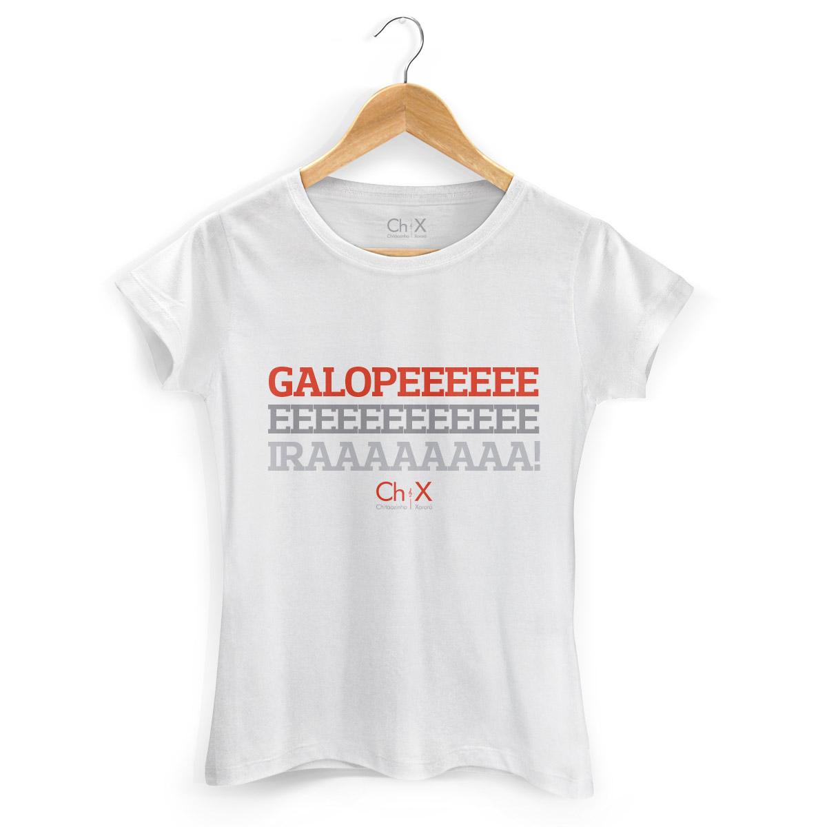 Camiseta Feminina Chit�ozinho & Xoror� Galopeira