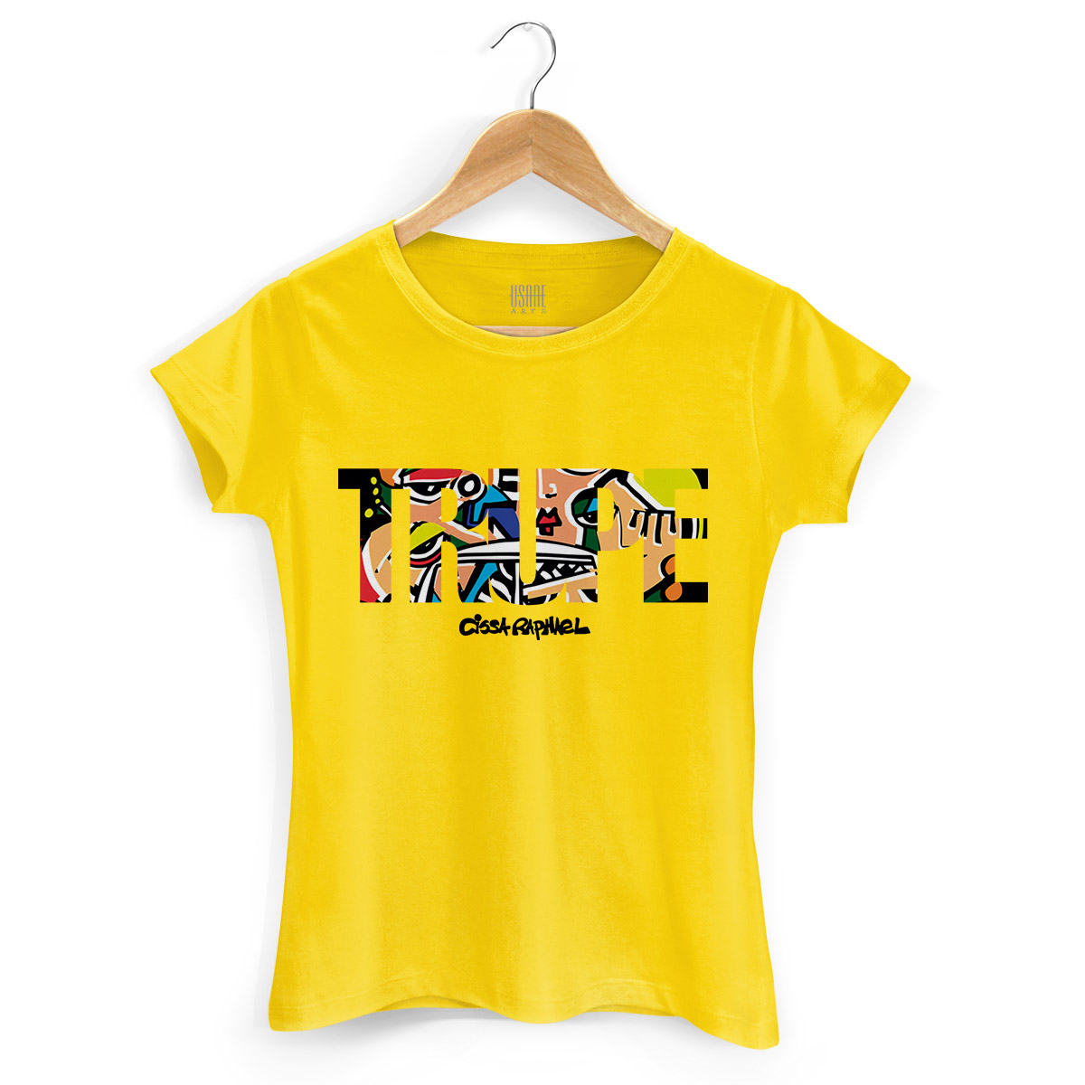 Camiseta Feminina Cissa Raphael Trupe Type