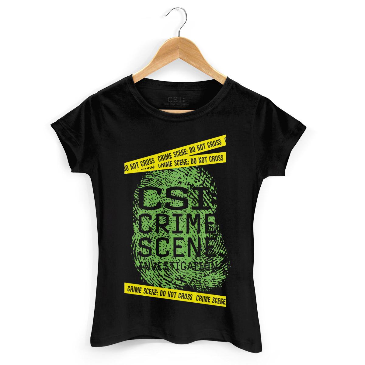 Camiseta Feminina CSI Crime Scene
