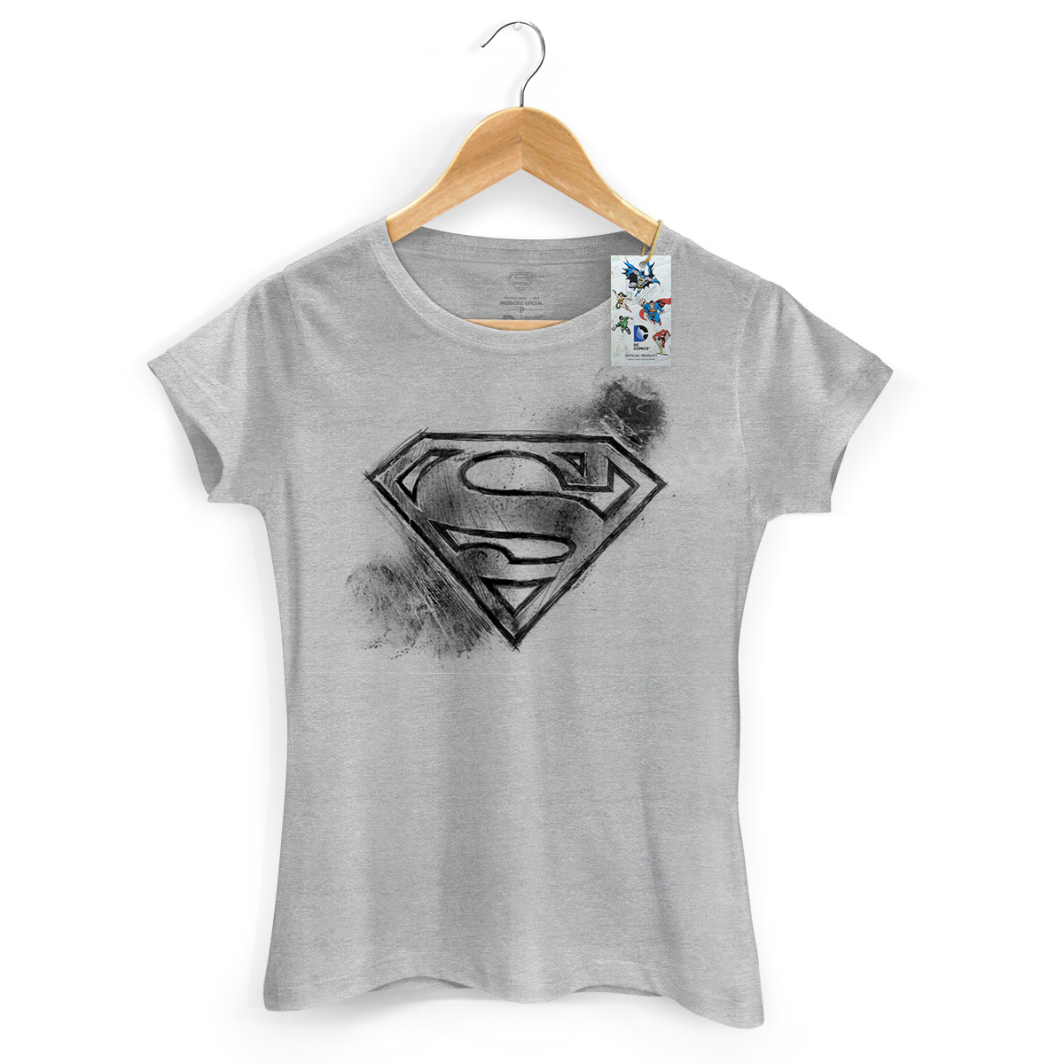 Camiseta Feminina DC Comics Superman Logo Tracing