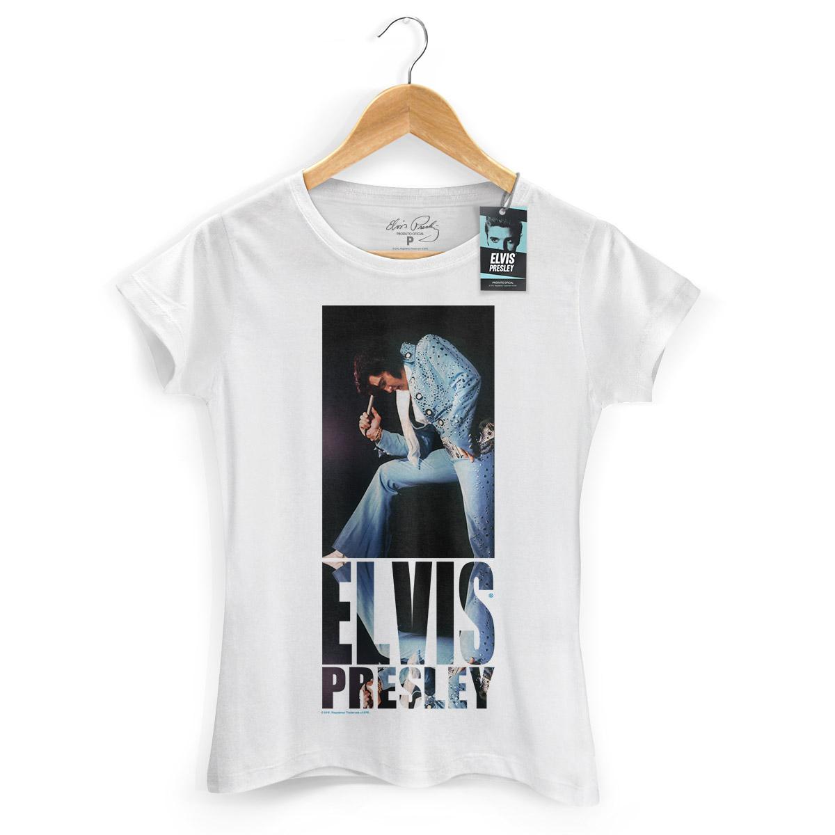 Camiseta Feminina Elvis Presley Blue Jumpsuit