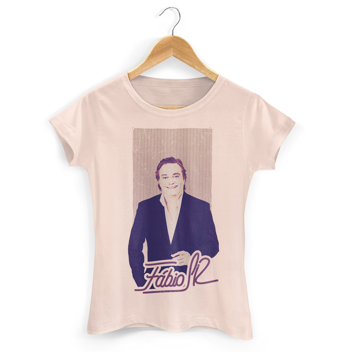 Camiseta Feminina F�bio Junior Foto