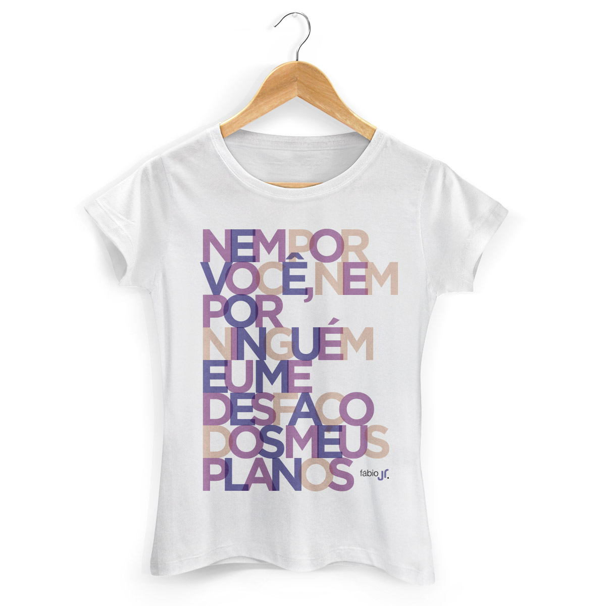 Camiseta Feminina F�bio Junior Meus Planos Colors