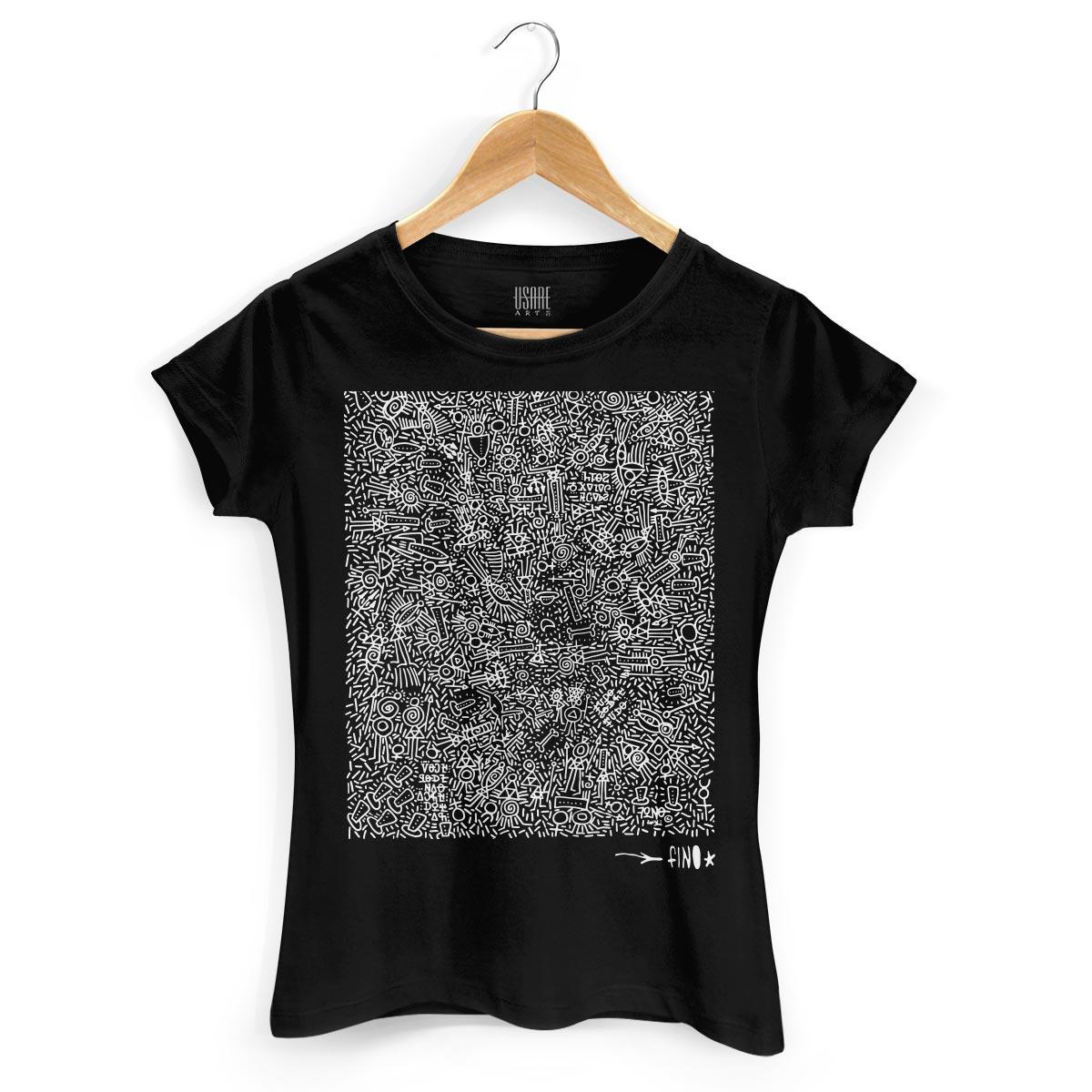 Camiseta Feminina Fino Farofa de Religião Black