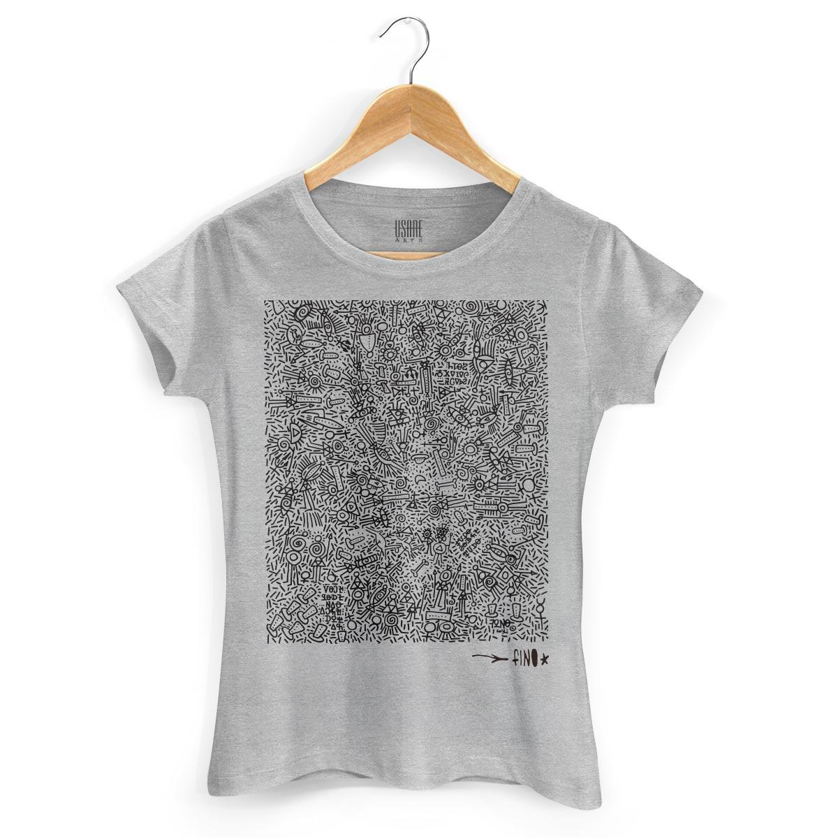 Camiseta Feminina Fino Farofa de Religi�o Gray