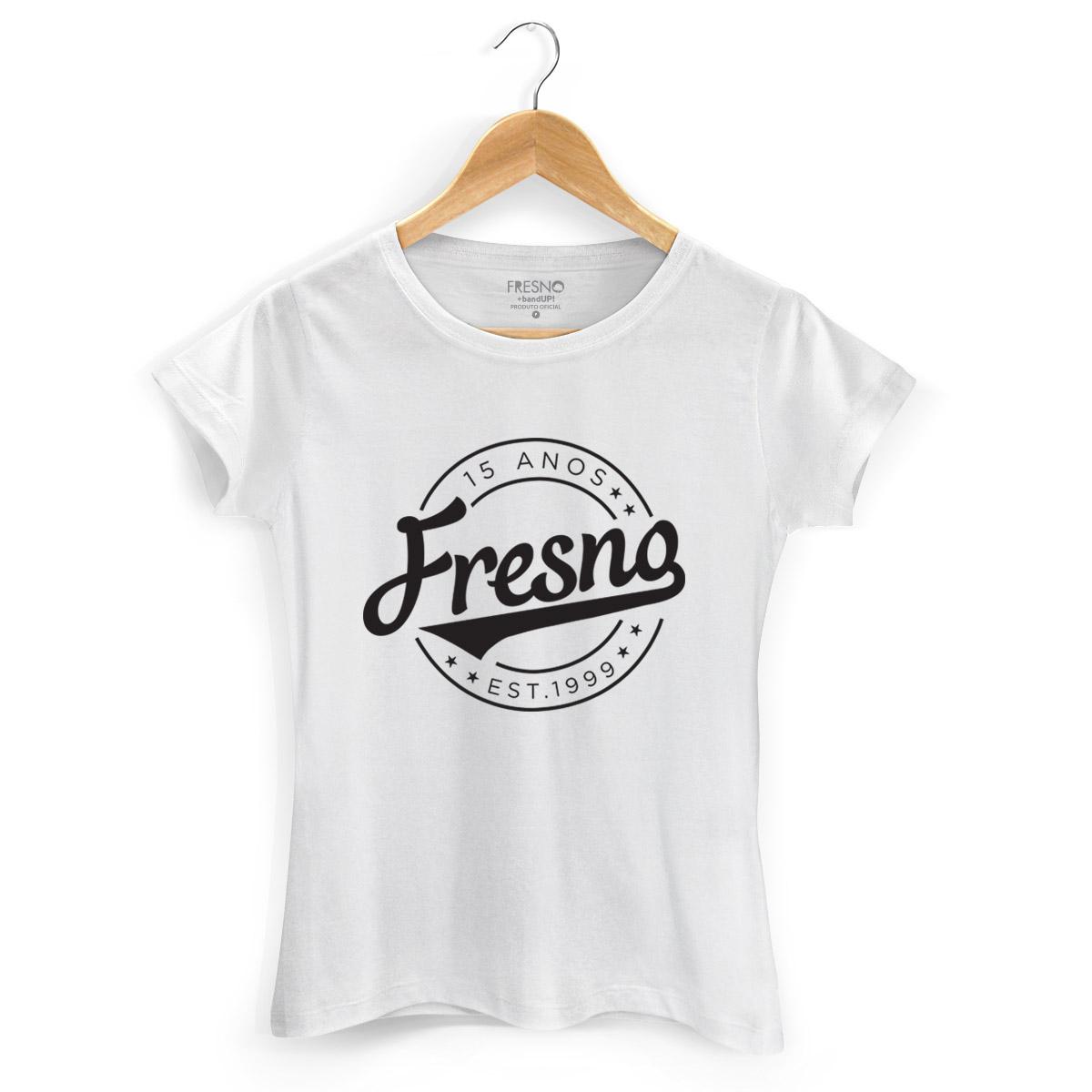 Camiseta Feminina Fresno 15 Anos Est 1999 White