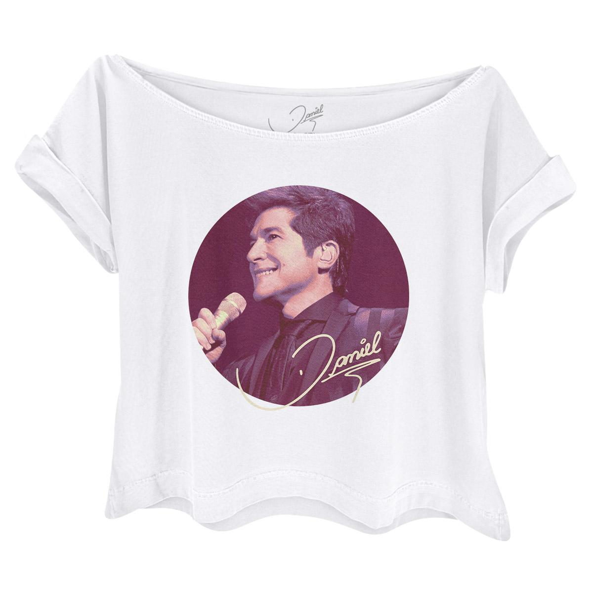 Camiseta Feminina Gola Canoa Daniel In Concert em Brotas