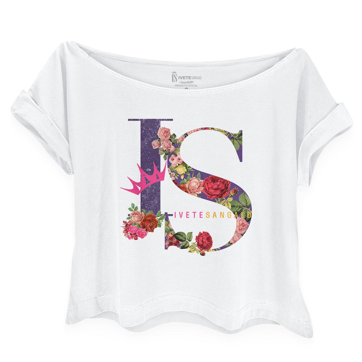 Camiseta Feminina Gola Canoa Ivete Sangalo IS Flowers