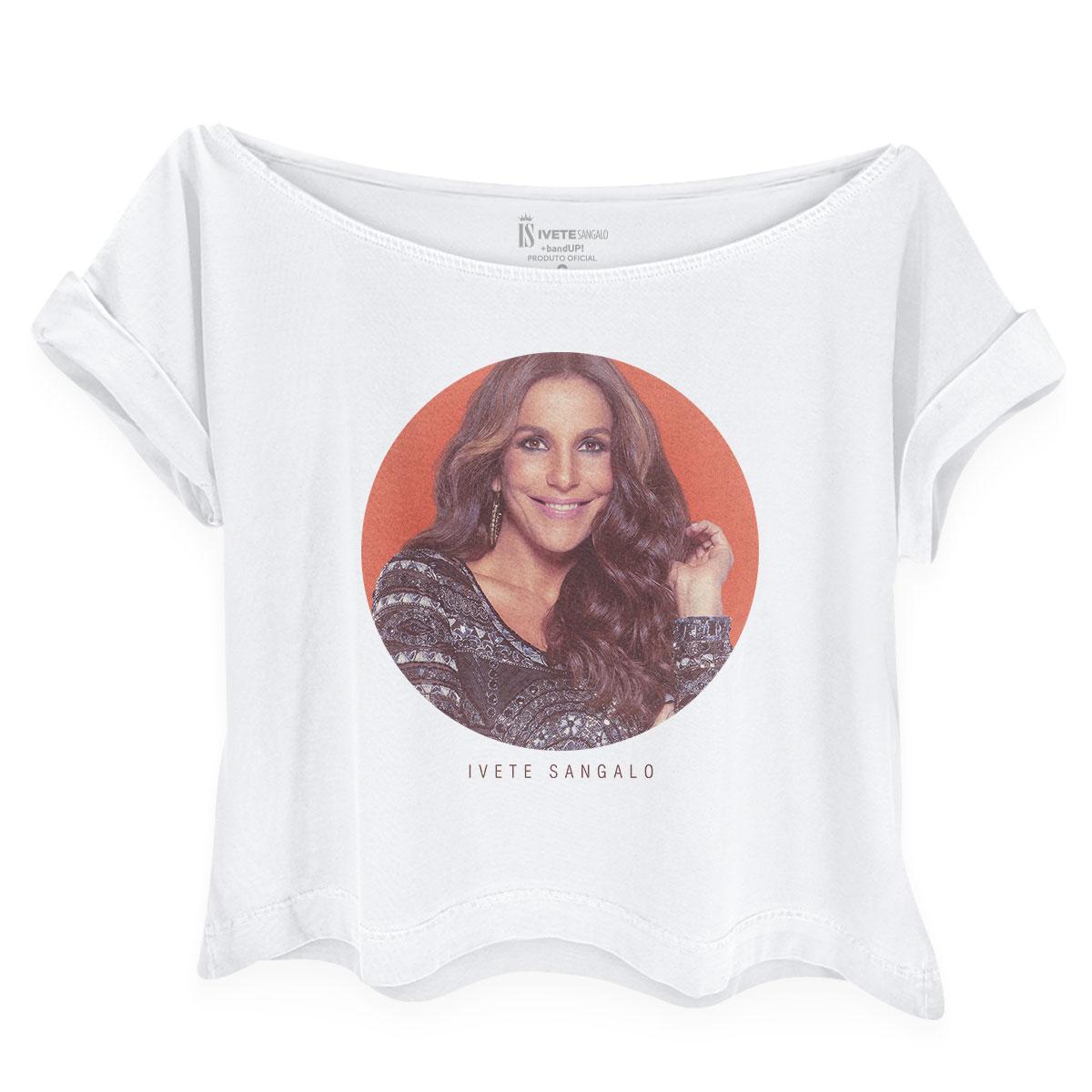 Camiseta Feminina Gola Canoa Ivete Sangalo Rainha do Ax�