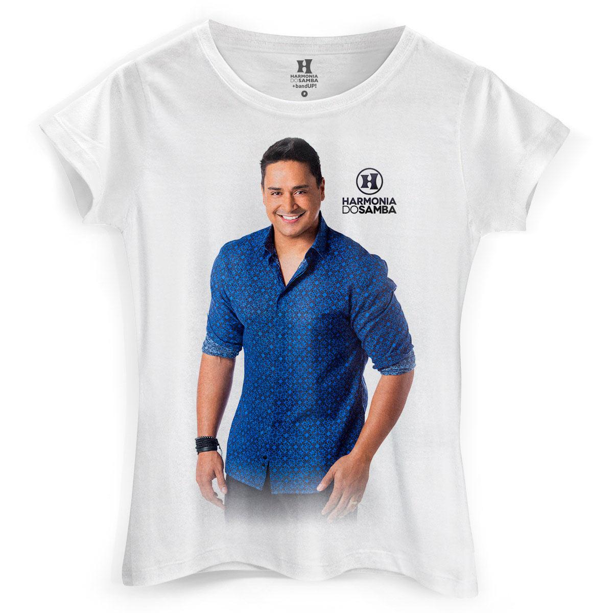 Camiseta Feminina Harmonia do Samba Tá no DNA Xanddy