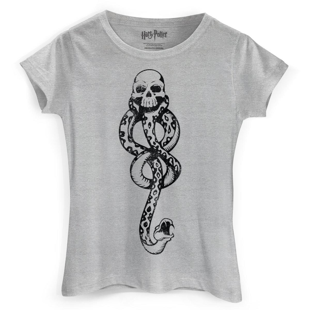 Camiseta Feminina Harry Potter A Marca Negra