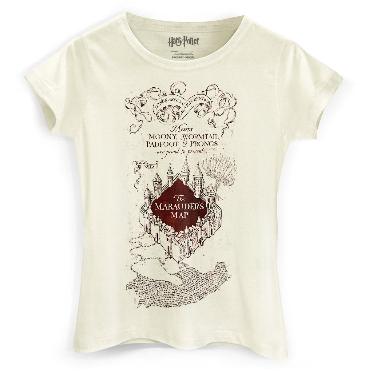 Camiseta Feminina Harry Potter The Marauder´s Map