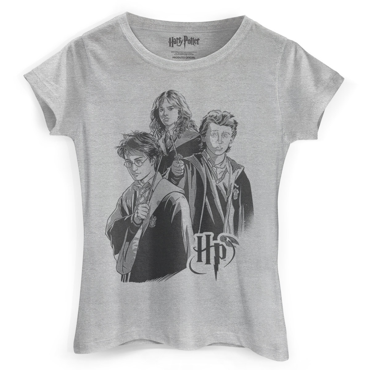 Camiseta Feminina Harry Potter Trio