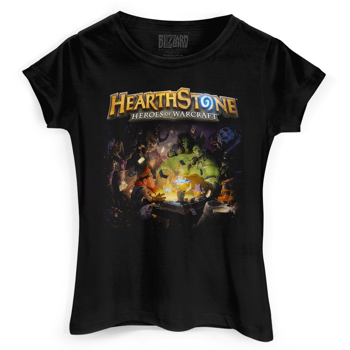 Camiseta Feminina Hearthstone Poster