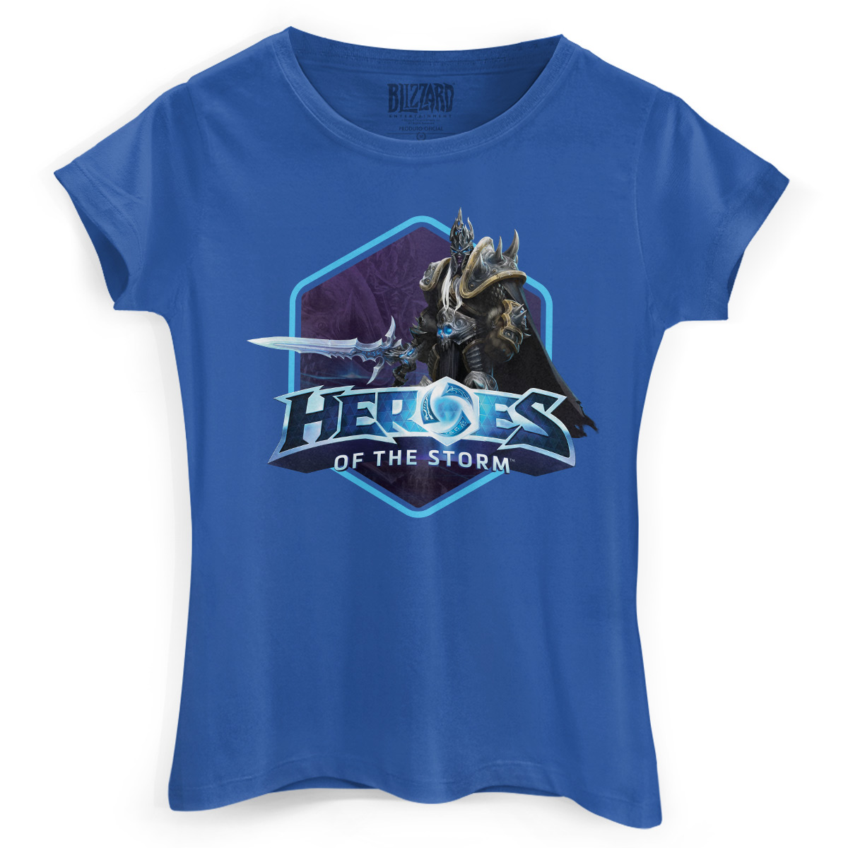 Camiseta Feminina Heroes Of The Storm Arthas