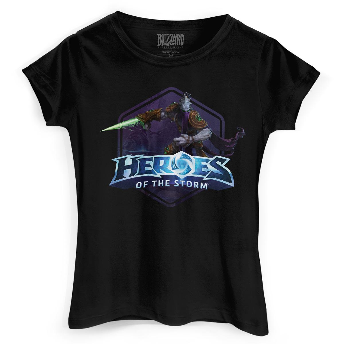 Camiseta Feminina Heroes Of The Storm Zeratul