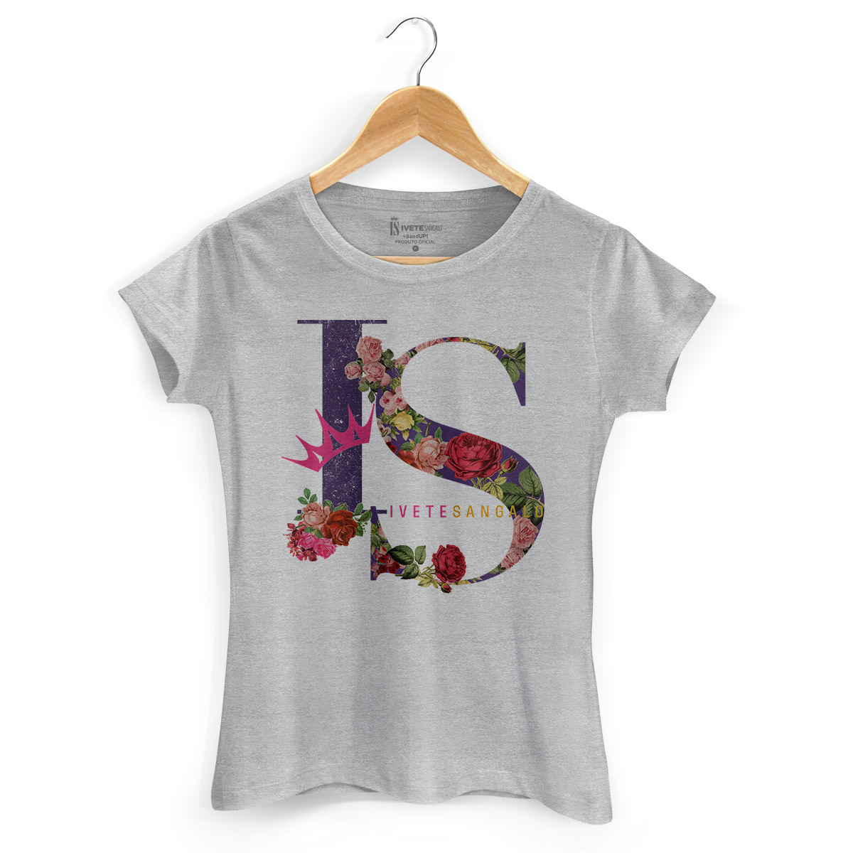 Camiseta Feminina Ivete Sangalo IS Flowers