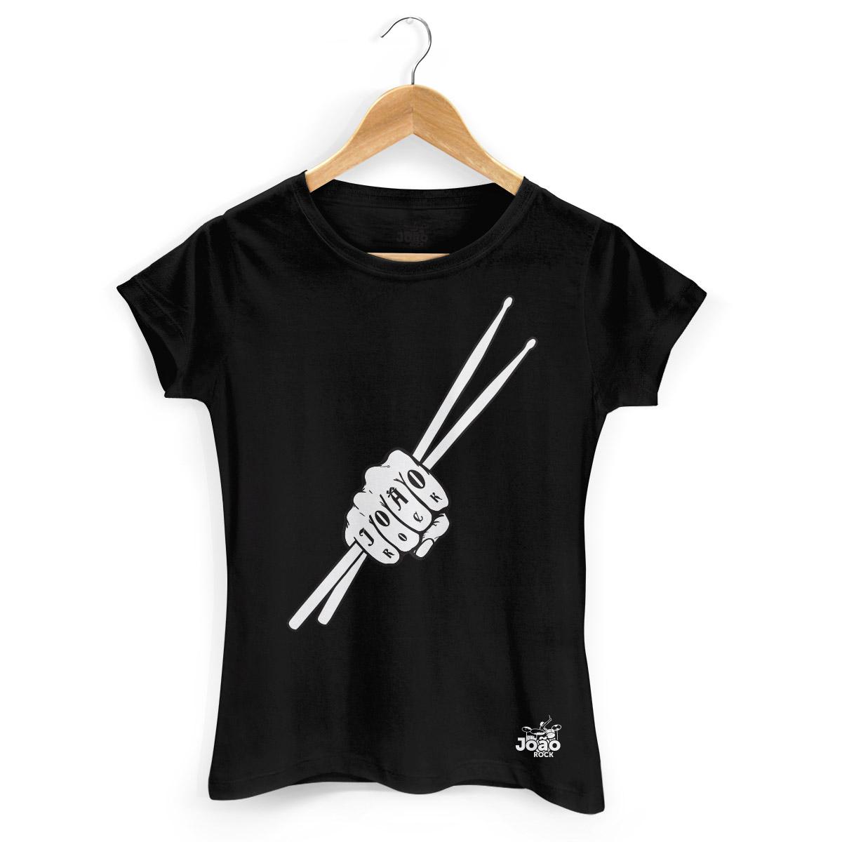 Camiseta Feminina Jo�o Rock Baqueta