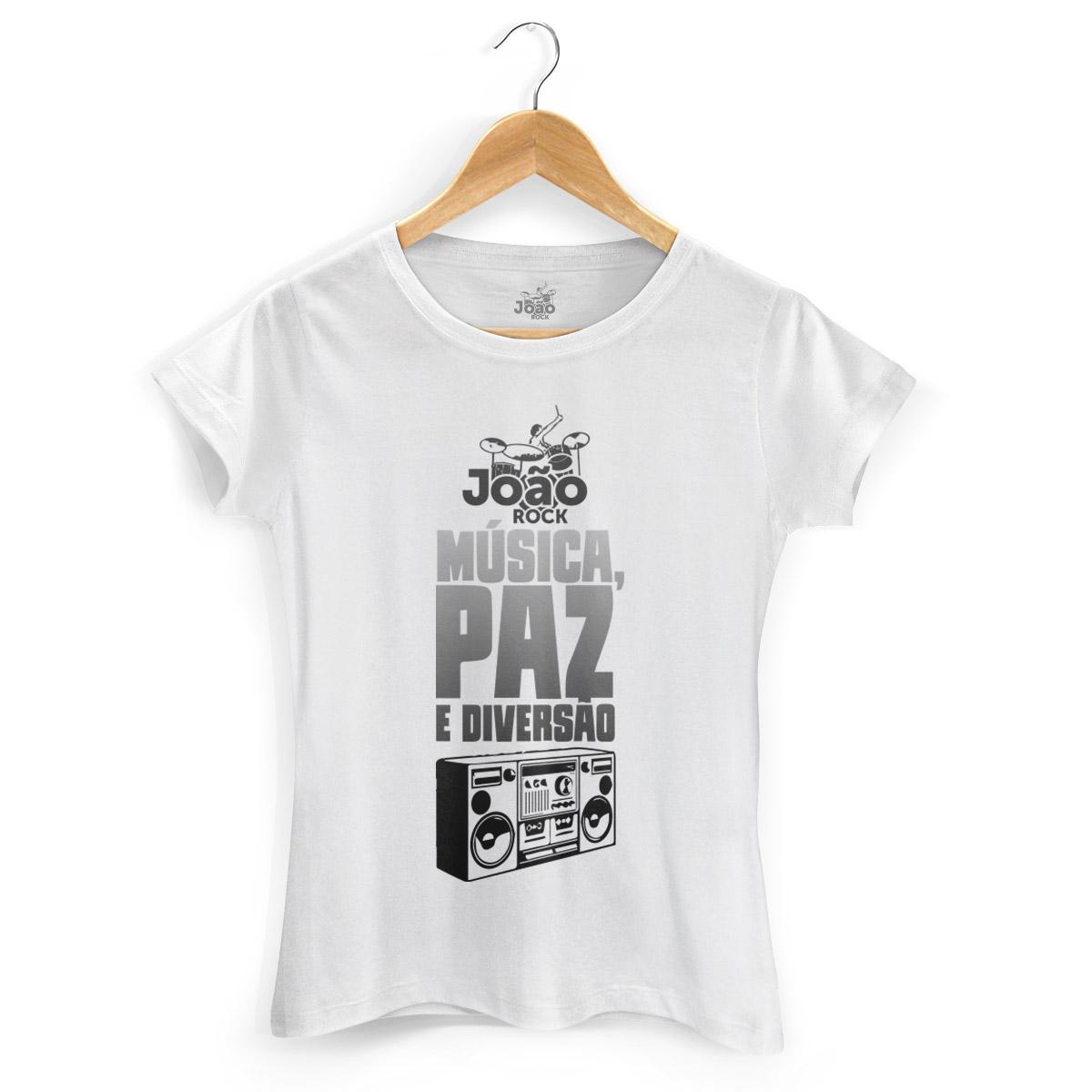 Camiseta Feminina Jo�o Rock M�sica