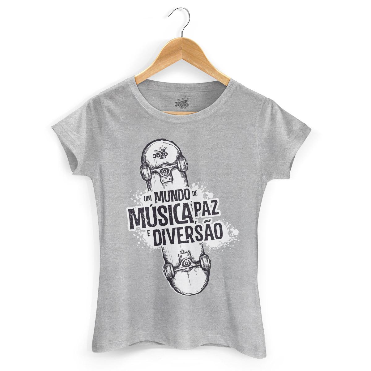 Camiseta Feminina João Rock Skate