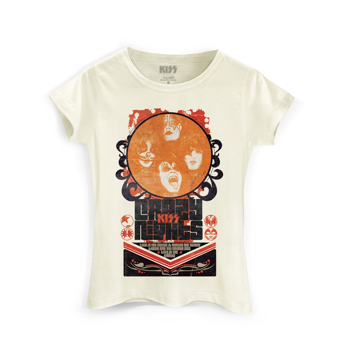 Camiseta Feminina Kiss Retro
