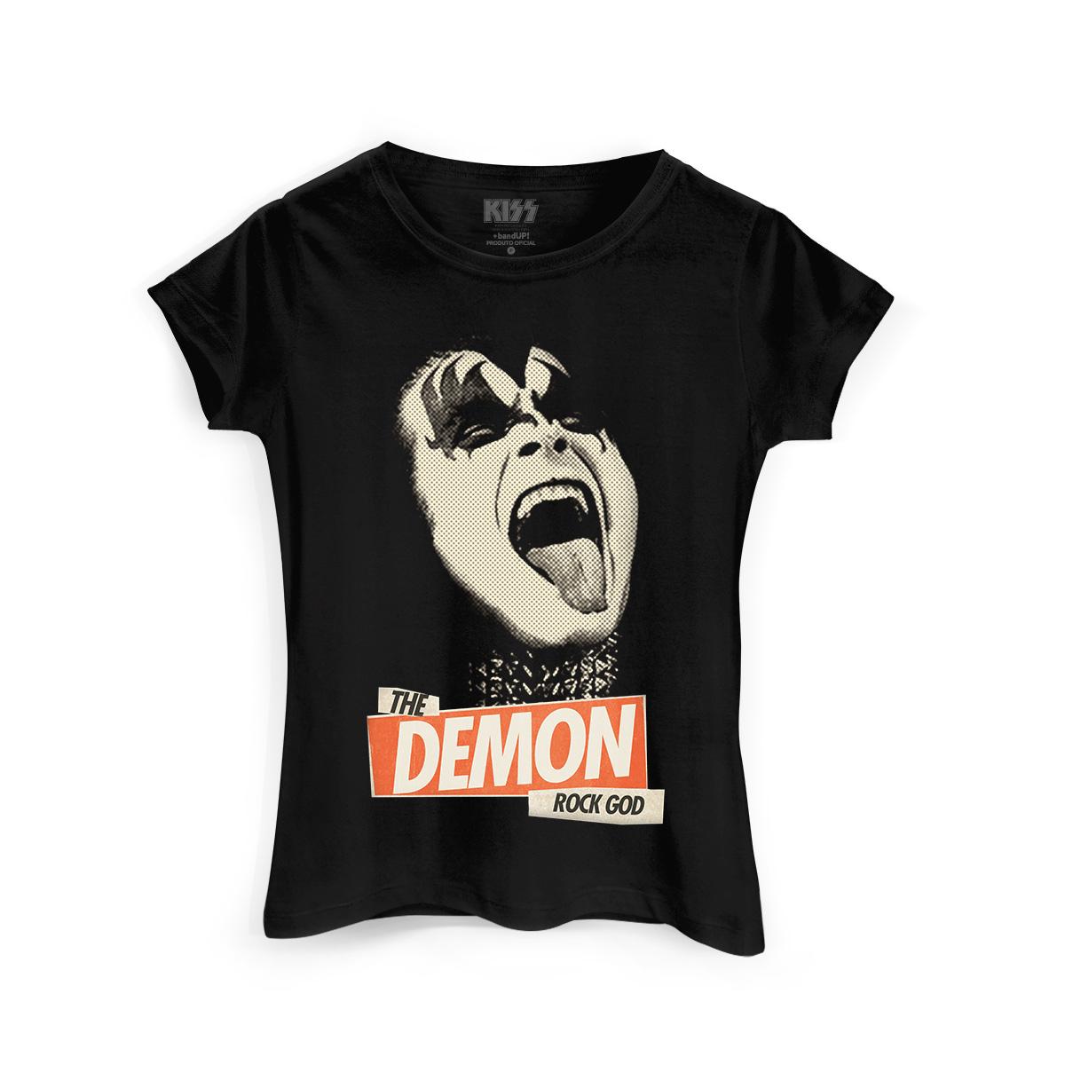 Camiseta Feminina Kiss Rock God