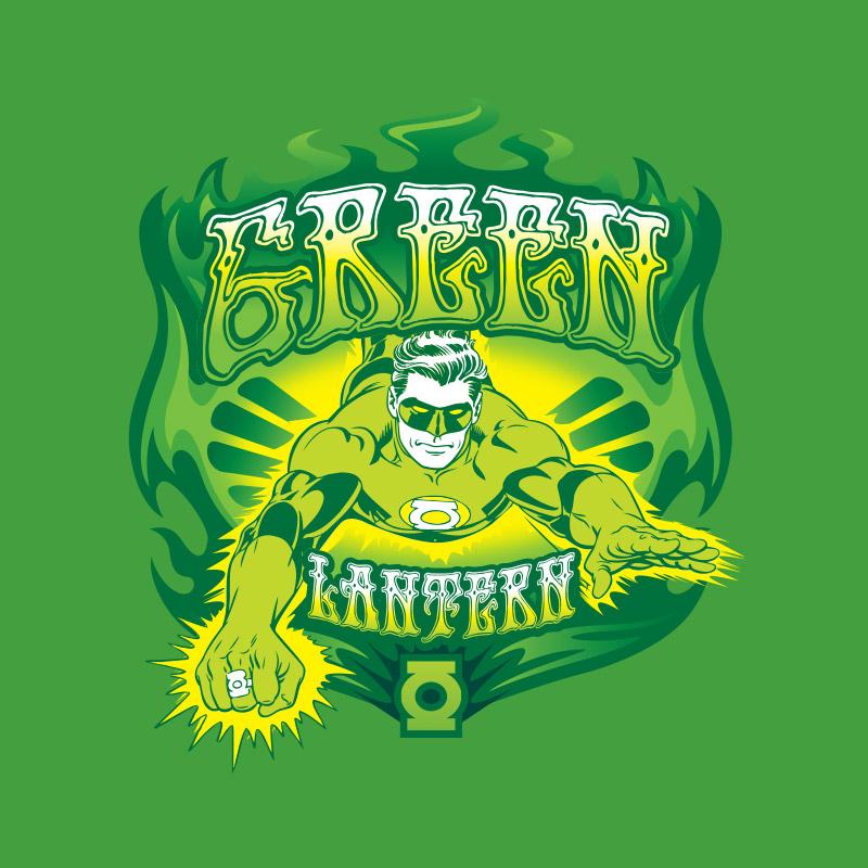 Camiseta Feminina Lanterna Verde Em A��o