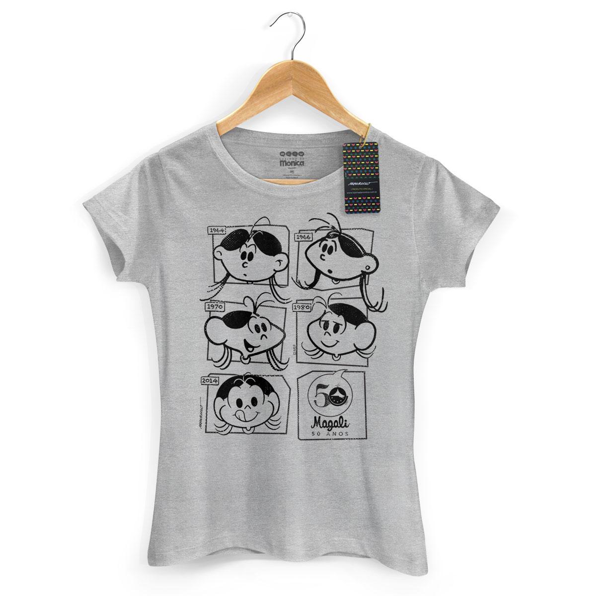 Camiseta Feminina Magali 50 Anos Evolução