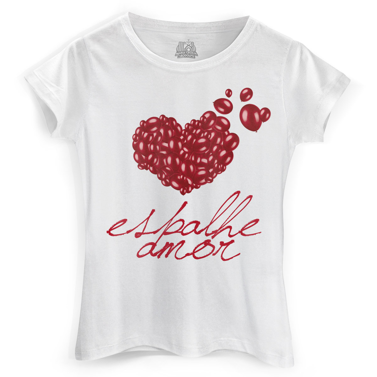 Camiseta Feminina Maria Cecília & Rodolfo Espalhe Amor