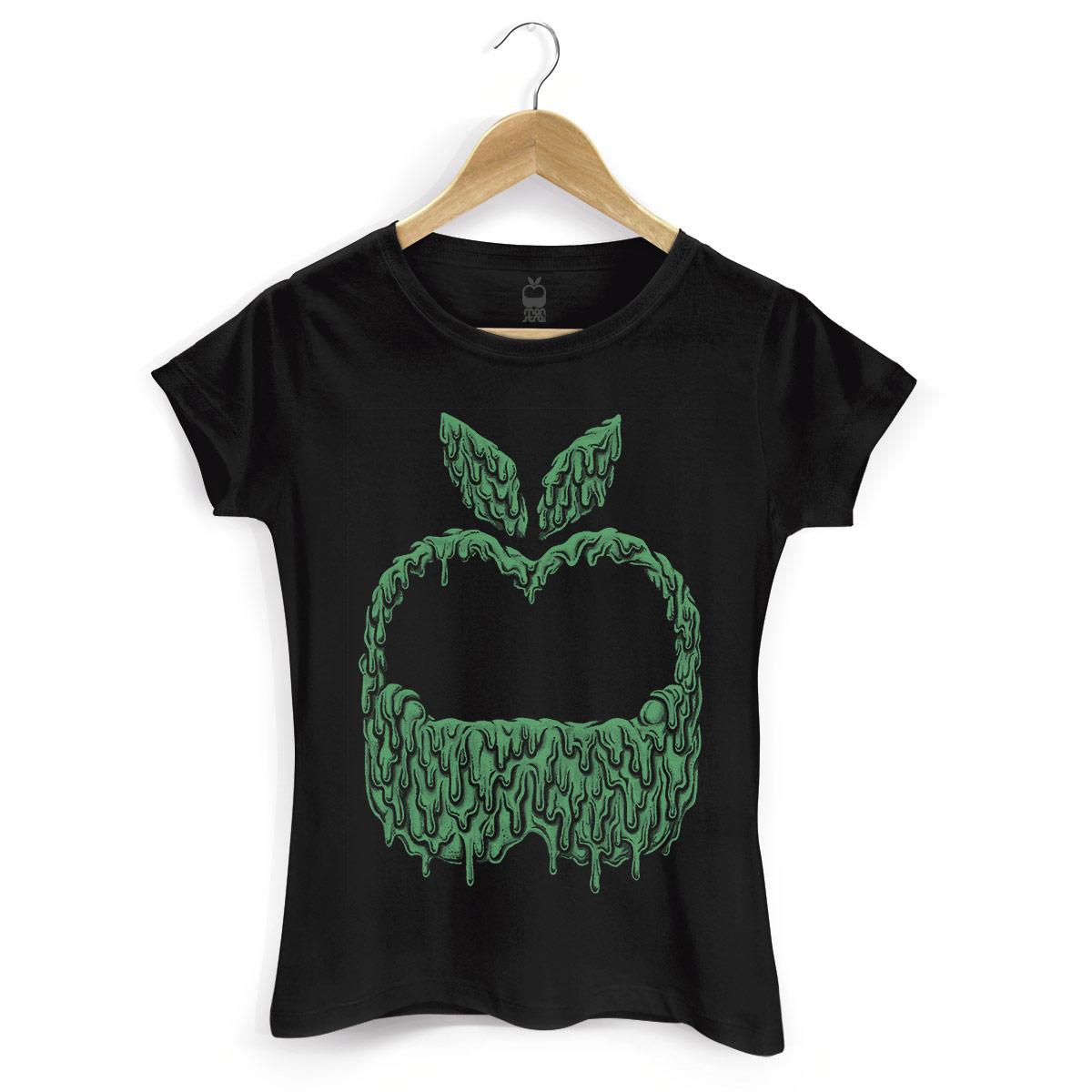 Camiseta Feminina Monstra Maçã Slime