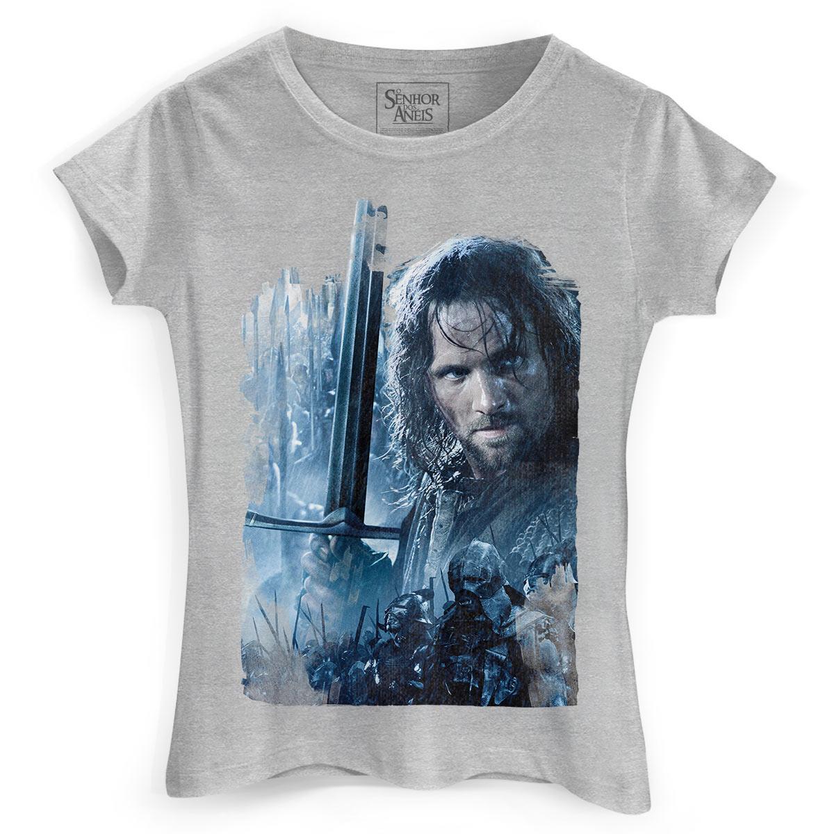 Camiseta Feminina O Senhor dos An�is As Duas Torres