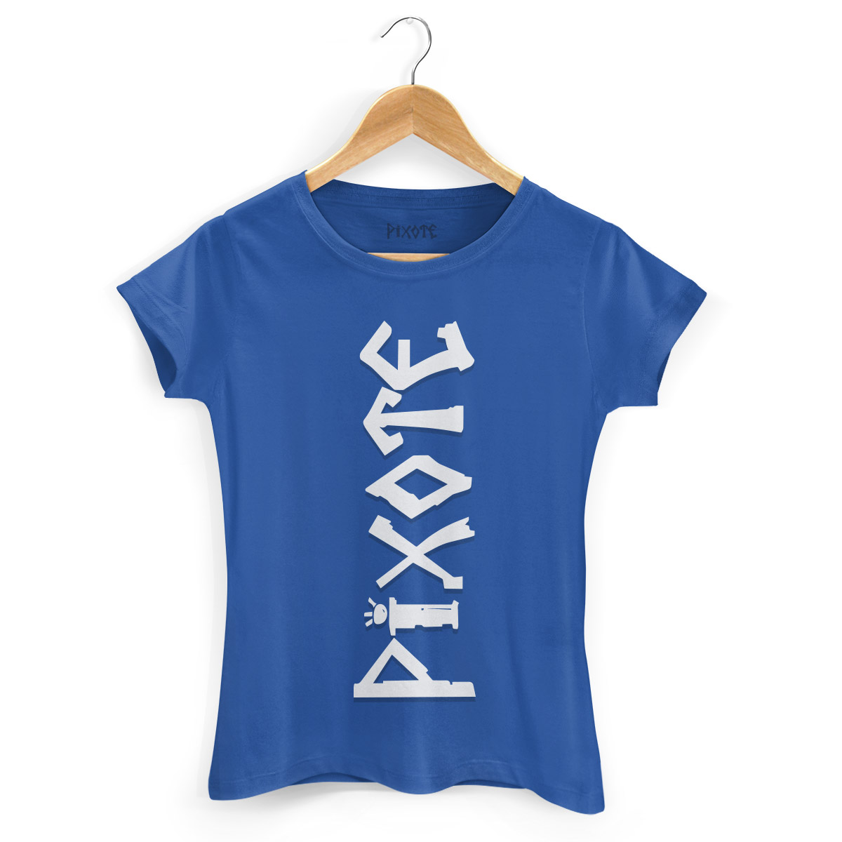 Camiseta Feminina Pixote Logo Blue