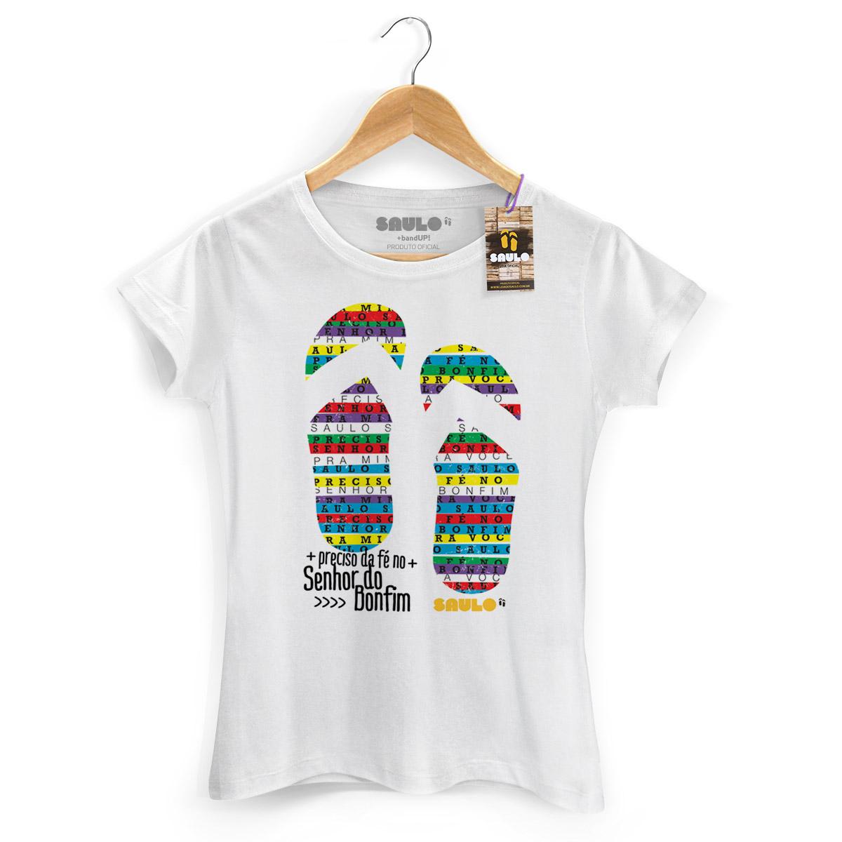 Camiseta Feminina Saulo Chinelo do Senhor do Bonfim