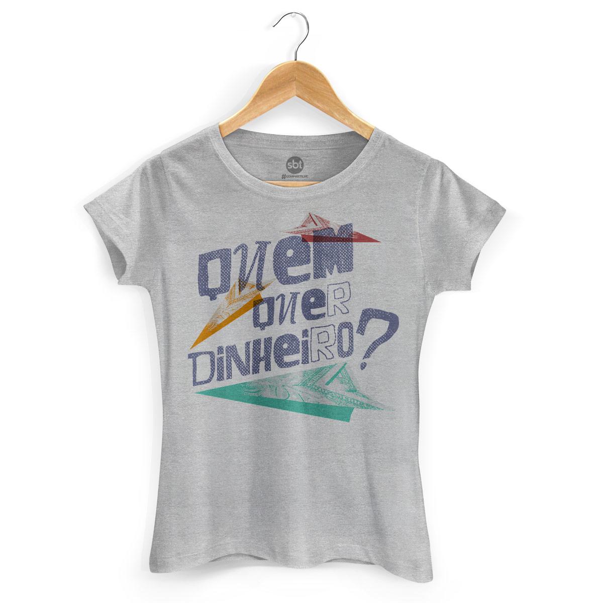 Camiseta Feminina SBT Quem Quer Dinheiro? 2