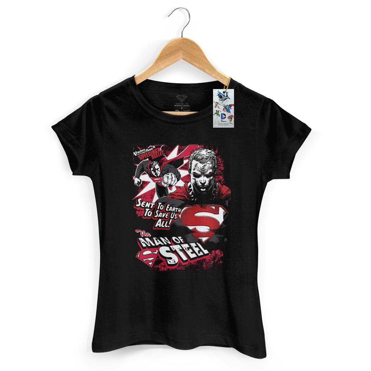 Camiseta Feminina Superman em A��o