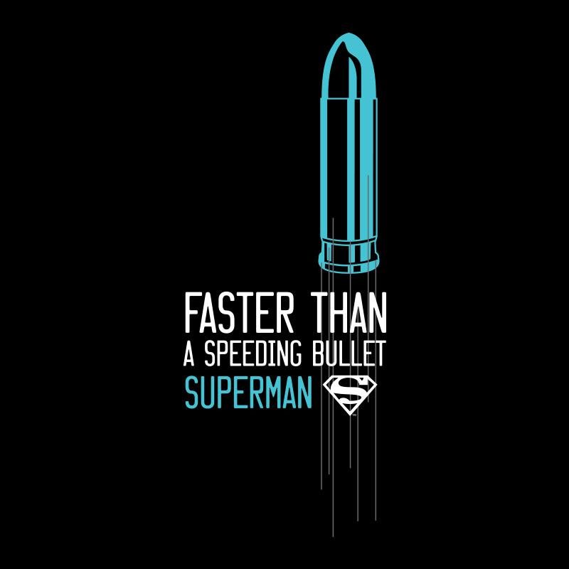 Camiseta Feminina Superman Mais Rápido Que Uma Bala